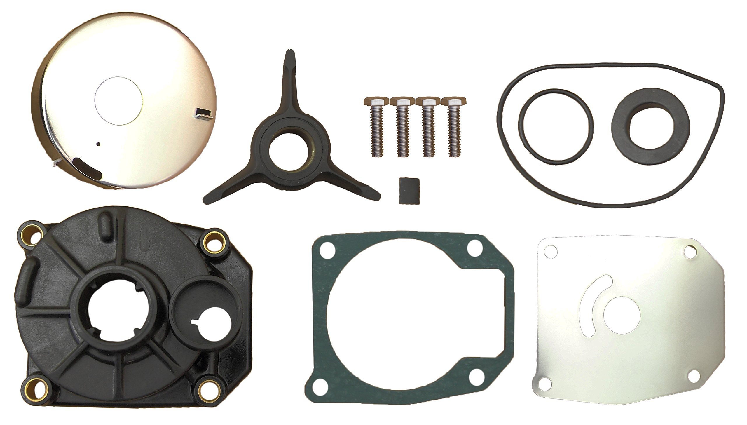 Evinrude Johnson 40 48 50 HP Water Pump Impeller Kit Fits 1988 to 2005 Replaces: 438592