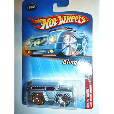 Hot Wheels Ford Bronco 2005 Blings 1:64 Scale Silver Ford Bronco Concept Die Cast Truck #032: Toys & Games