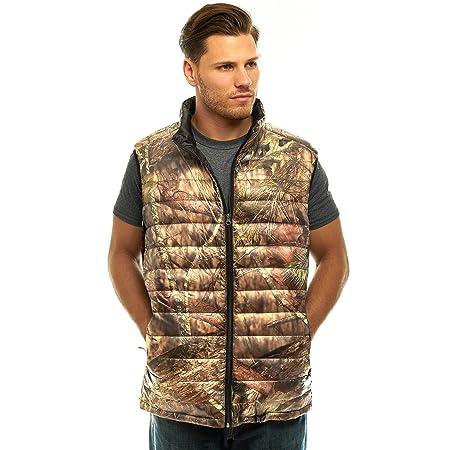 TrailCrest Men s Packable Ultra Lightweight Down Vest, Outdoor Puffer Vest, Mossy Oak Camo Patterns