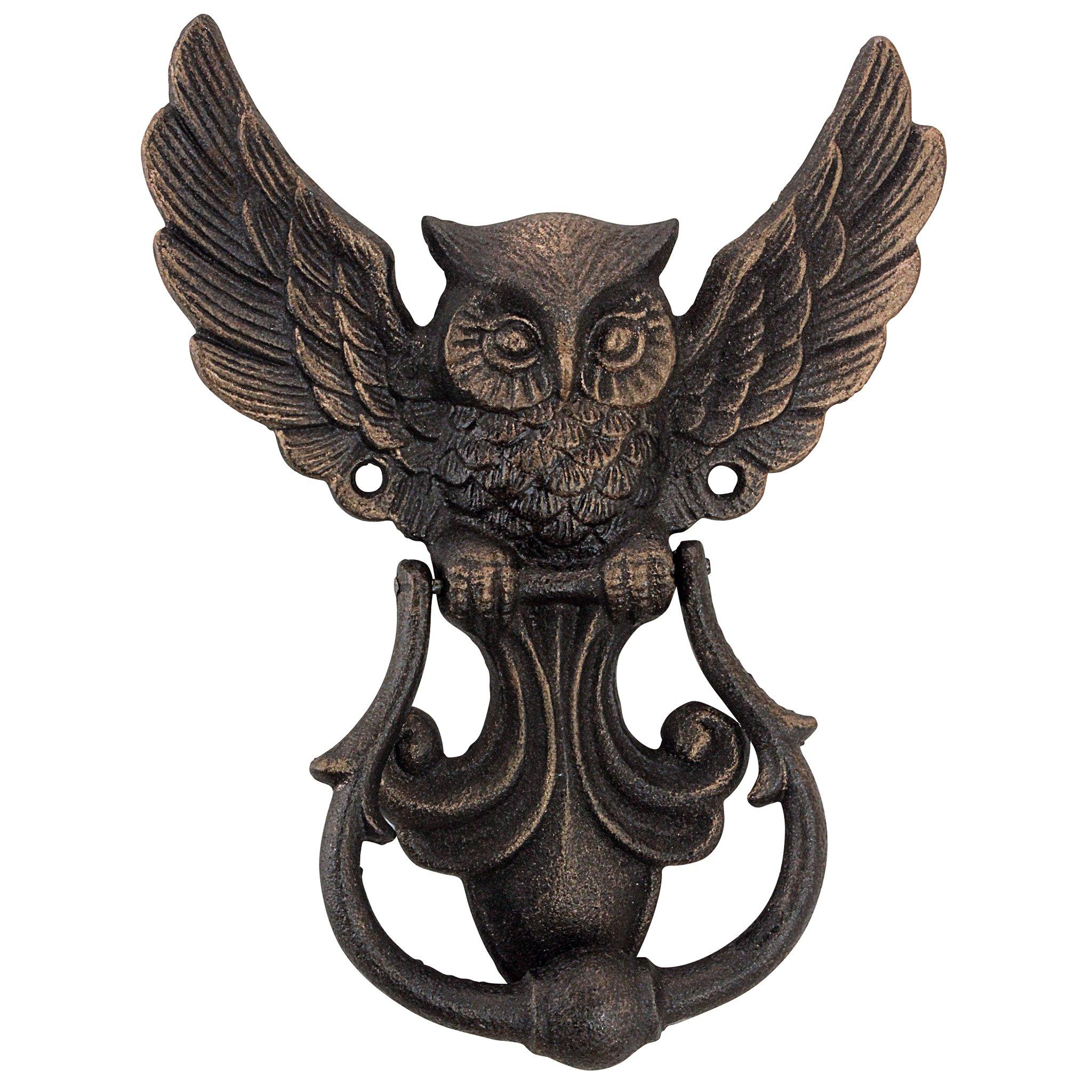 Design Toscano Mystical Spirit Owl Authentic Foundry Iron Door Knocker