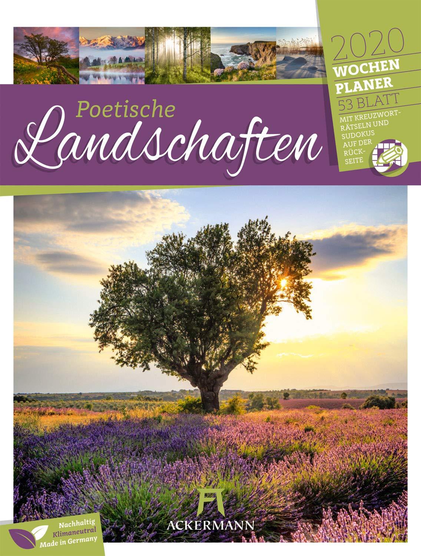 Poetische Landschaften   Wochenplaner 2020 Wandkalender Im Hochformat  25x33 Cm    Wochenkalender Mit Rätseln Und Sudoku Auf Der Rückseite