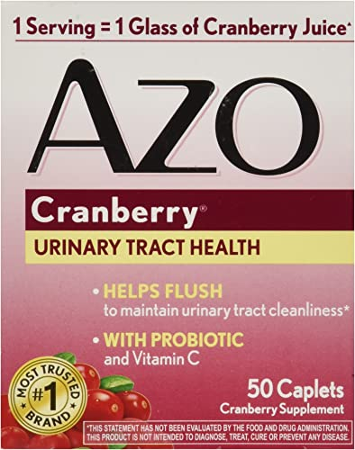 AZO Cranberry Tablets, 50 Count packaging may vary