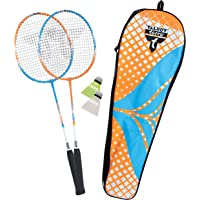 Talbot Torro Set de Badminton 2-Attacker Adulte Unisexe, Orange-Cyan, Taille Unique