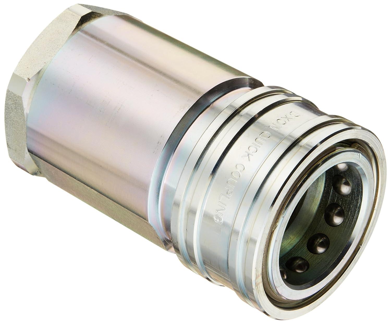 1//2 Coupling x 1//2-14 NPTF Female Nipple Dixon Valve H4F4 Steel ISO-B Interchange Hydraulic Fitting