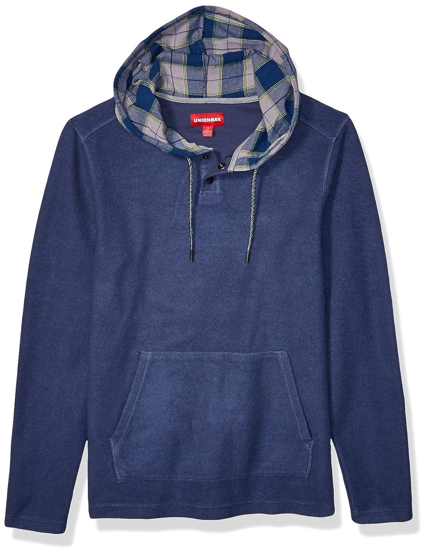 UNIONBAY Mens Long Sleeve Cozy Hoodie Sweatshirt
