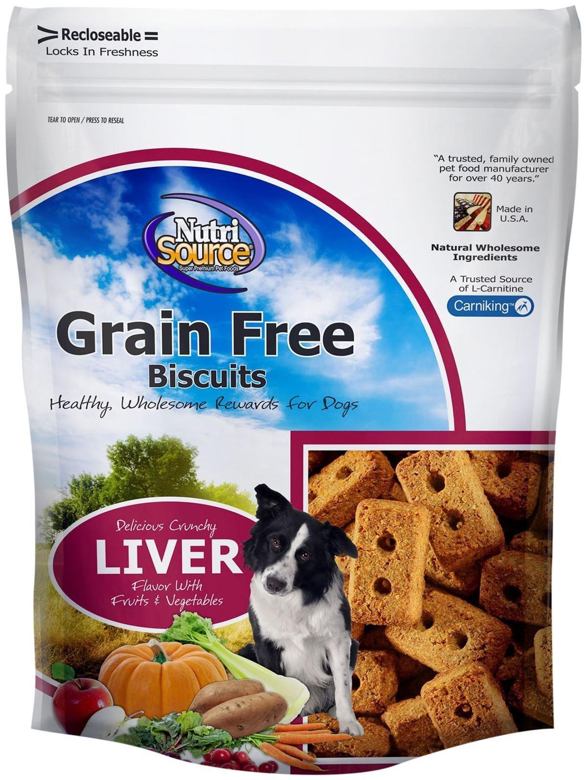 Nutri Source Grain Free Liver Biscuit - 14 oz