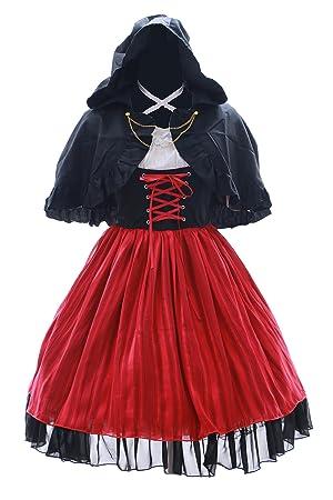 JL-581 K Anna Kushina Rot schwarz Kostüm Kleid Cape Gothic Lolita dress Cosplay