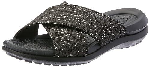 dd9b77d63a49 Crocs Women s Capri Shimmer Xband Sandal W Heels  Amazon.co.uk ...