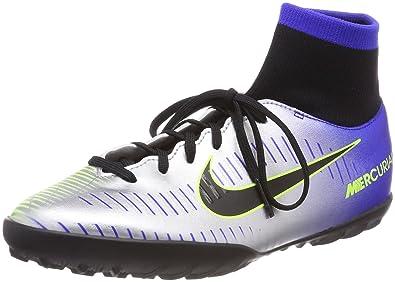 Nike Unisex-Kinder Jr MercurialX Vctry 6 NJR Ic Fußballschuhe, Blau (Racer Blue Black Ch R O M E Volt 407), 38 EU
