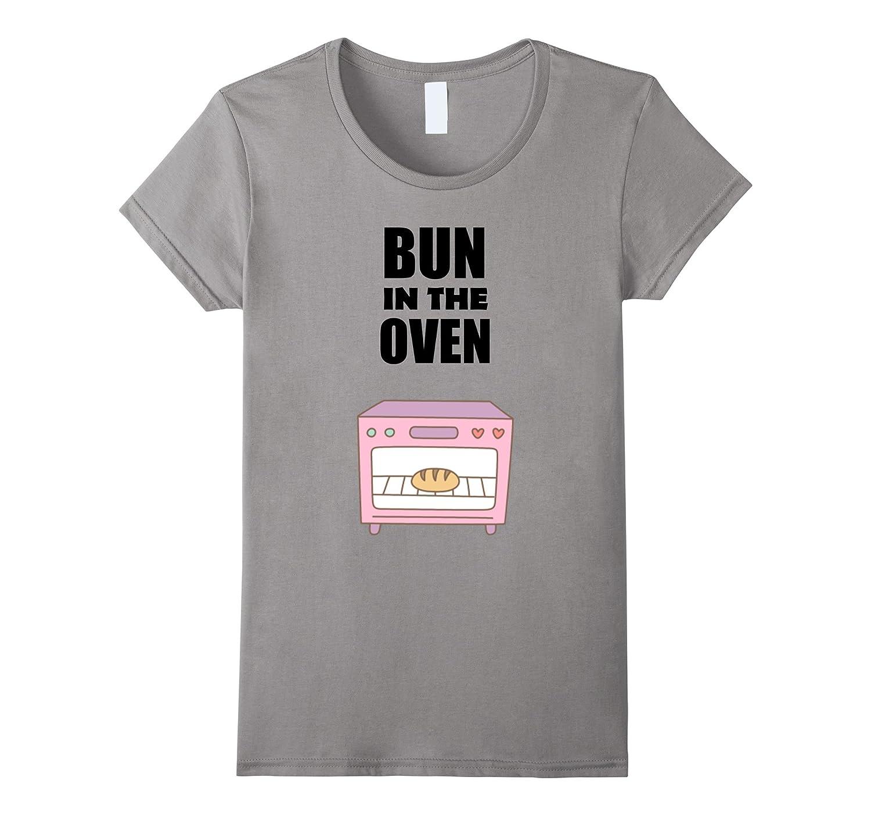 Womens Women's Pregnancy Shirt   Bun In The Oven T Shirt-ANZ