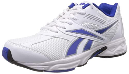 8b8c33b3e806cc Reebok Men s Active Sport Ii Lp White and Blue Mesh Running Shoes ...