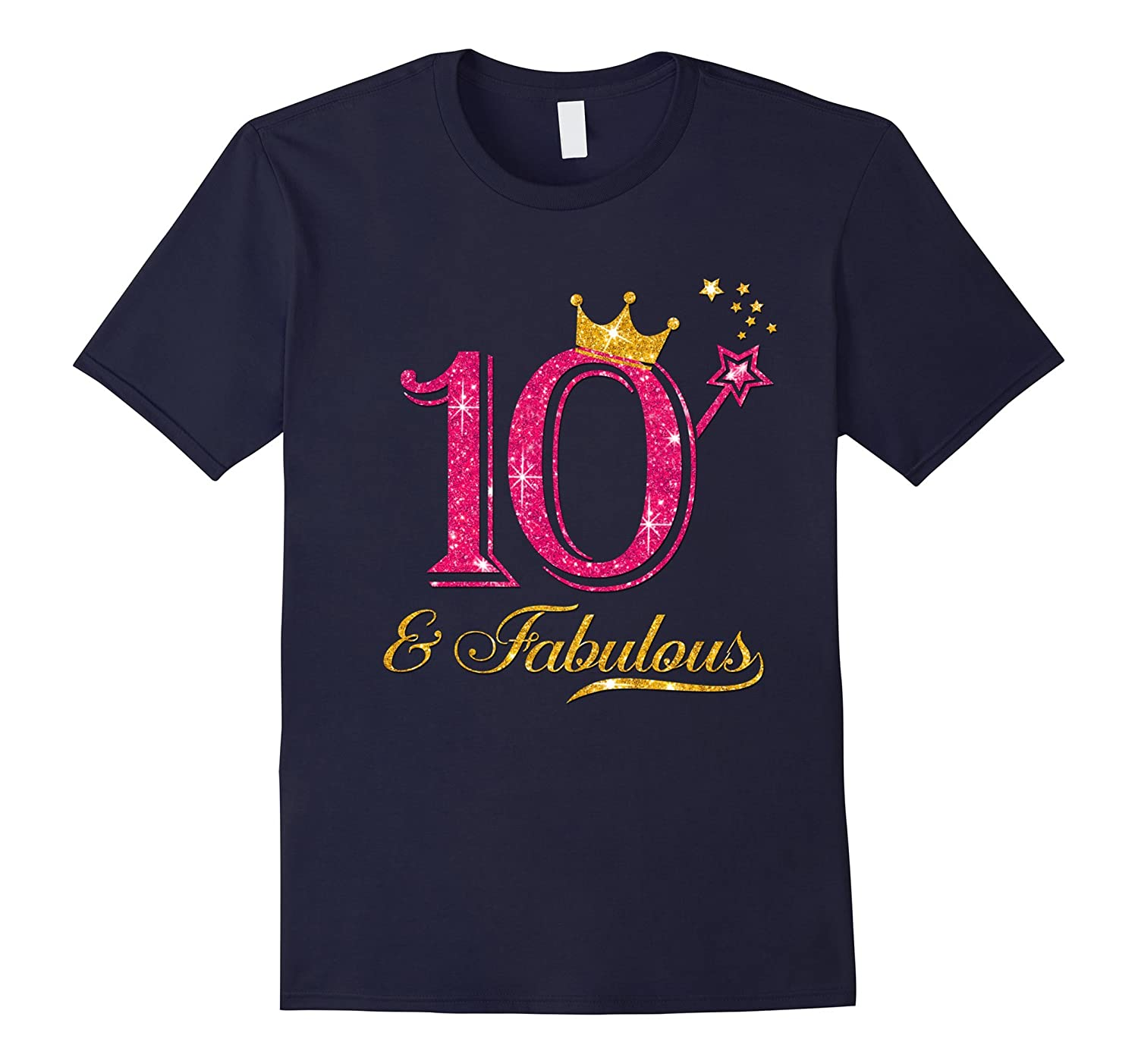 10 and fabulous birthday girl shirt-TH
