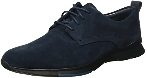 Clarks Tynamo Walk, Zapatillas para Hombre, Azul (Navy Leather), 42 EU