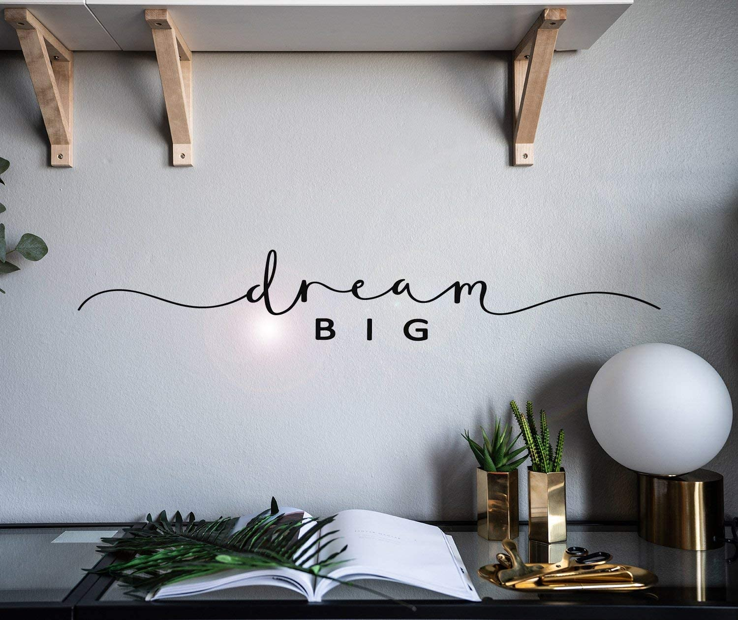 Vinyl Wall Decal Dream Big Lettering Words Room Home Idea Stickers Mural 28.5 in x 4.5 in gz045