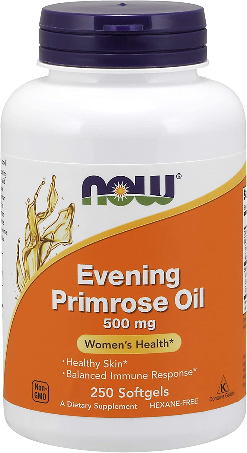 NOW Supplements, Evening Primrose Oil 500 mg with Naturally Occurring GLA (Gamma-Linolenic Acid), 250 Softgels: Health & Personal Care