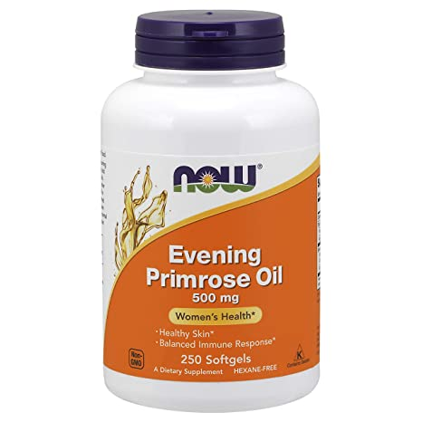 NOW Evening Primrose Oil 500 mg, mq1yb 3Pack (250 Softgels Each)