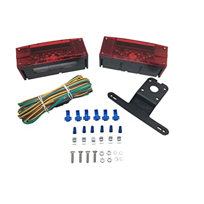 MAXXHAUL 70468 12V LED Low Profile Submersible Rectangular Trailer Light Kit: Automotive