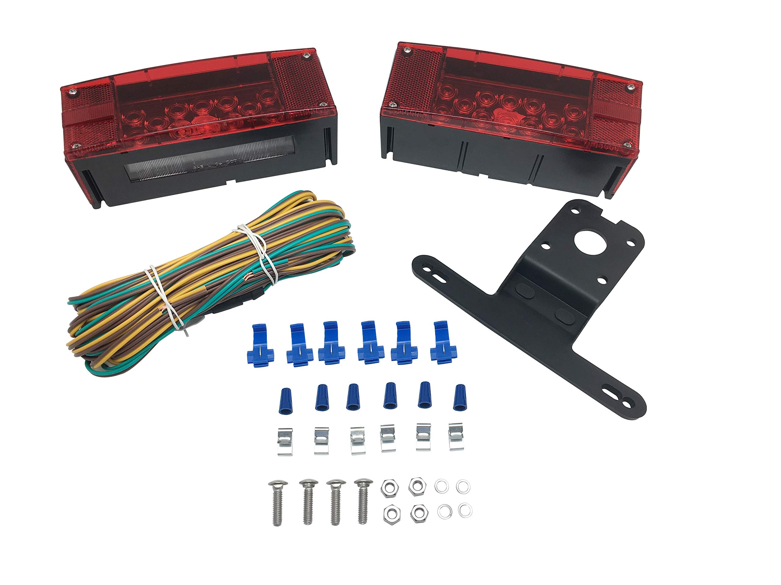 MaxxHaul 70468 12V LED Low Profile Submersible Rectangular Trailer Light Kit by MaxxHaul