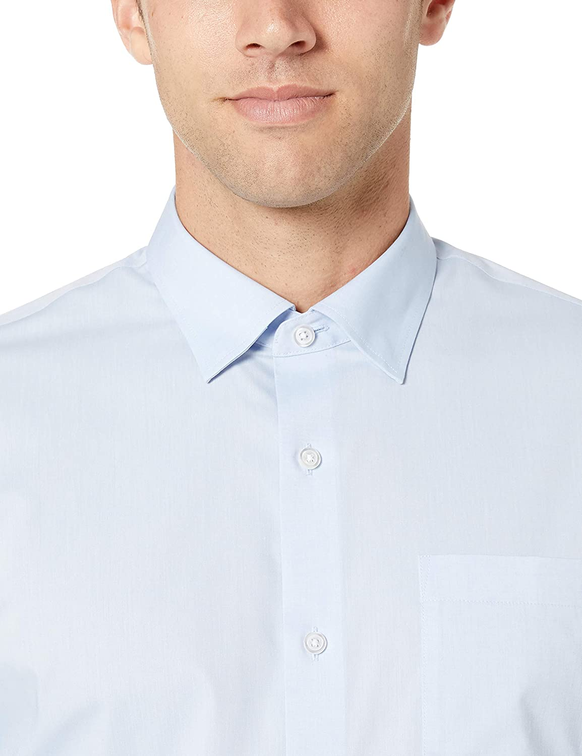 Essentials Regular-Fit Wrinkle-Resistant Stretch Dress Shirt Uomo