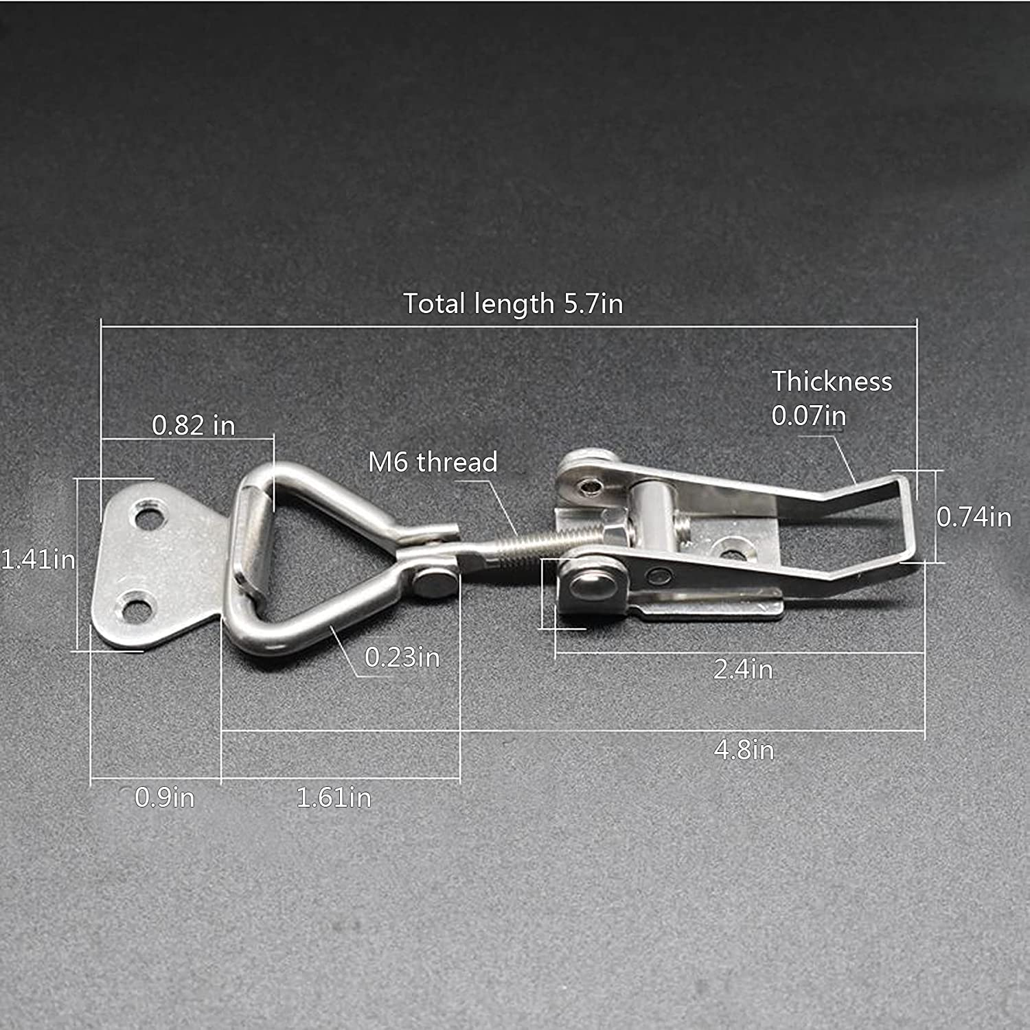 90/° -180/° quick clamp for Cabinets Door Box Case Trunk Adjustable Toggle Clamp 304 stainless steel latches hardware to Furniture Parts/&Acces with Holding Capacity 460 lbs 2 PCS