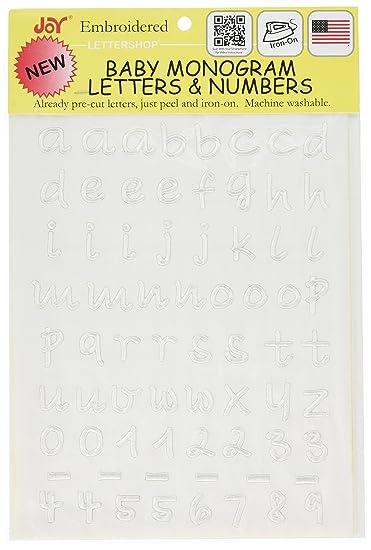 """Joy JOY8319 Monogram Baby Lower Case Letter Iron On Sheet, 1/2"""","""