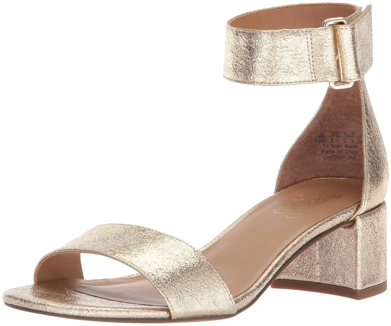 Women's Mid heel Peep Toe Sandal Pewter A office By Franco Sarto