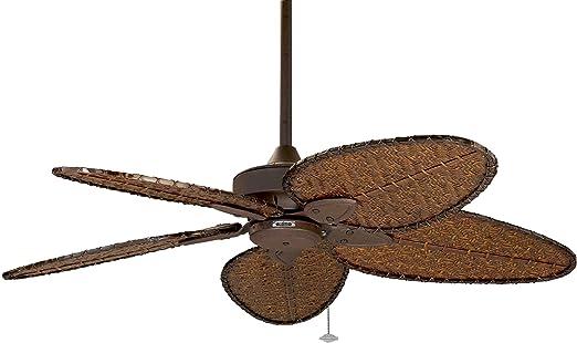 CASA BRUNO ventilador de techo Windpointe, marrón óxido con aspas ...