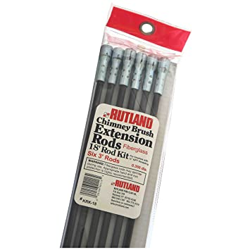 Amazon.com: Rutland KRK-18 Fiberglass Chimney Brush Rod Kit: Home ...