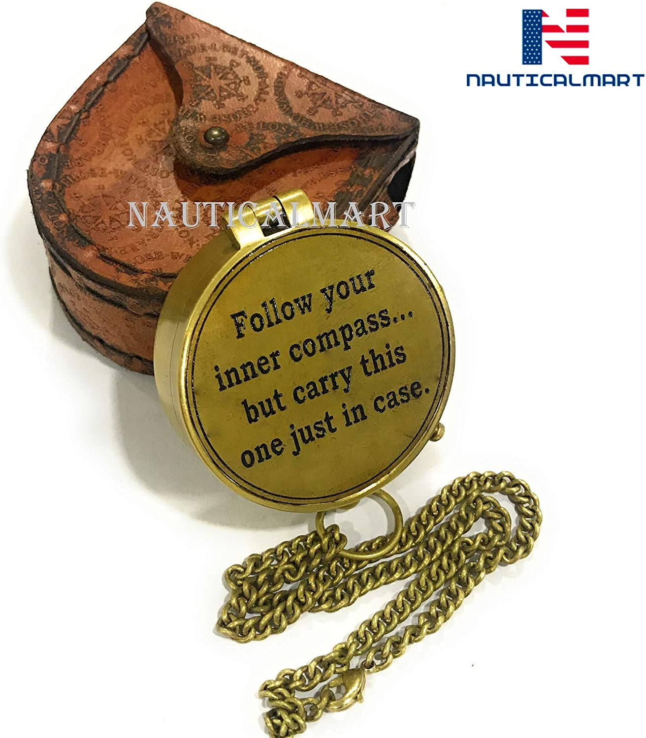 Touring//Gift for Him Hiking Roorkee Instruments India//Keep This Close//Unique Quote Compass W//Case//Directional Magnetic Compass for Navigation//Pocket Compass for Camping