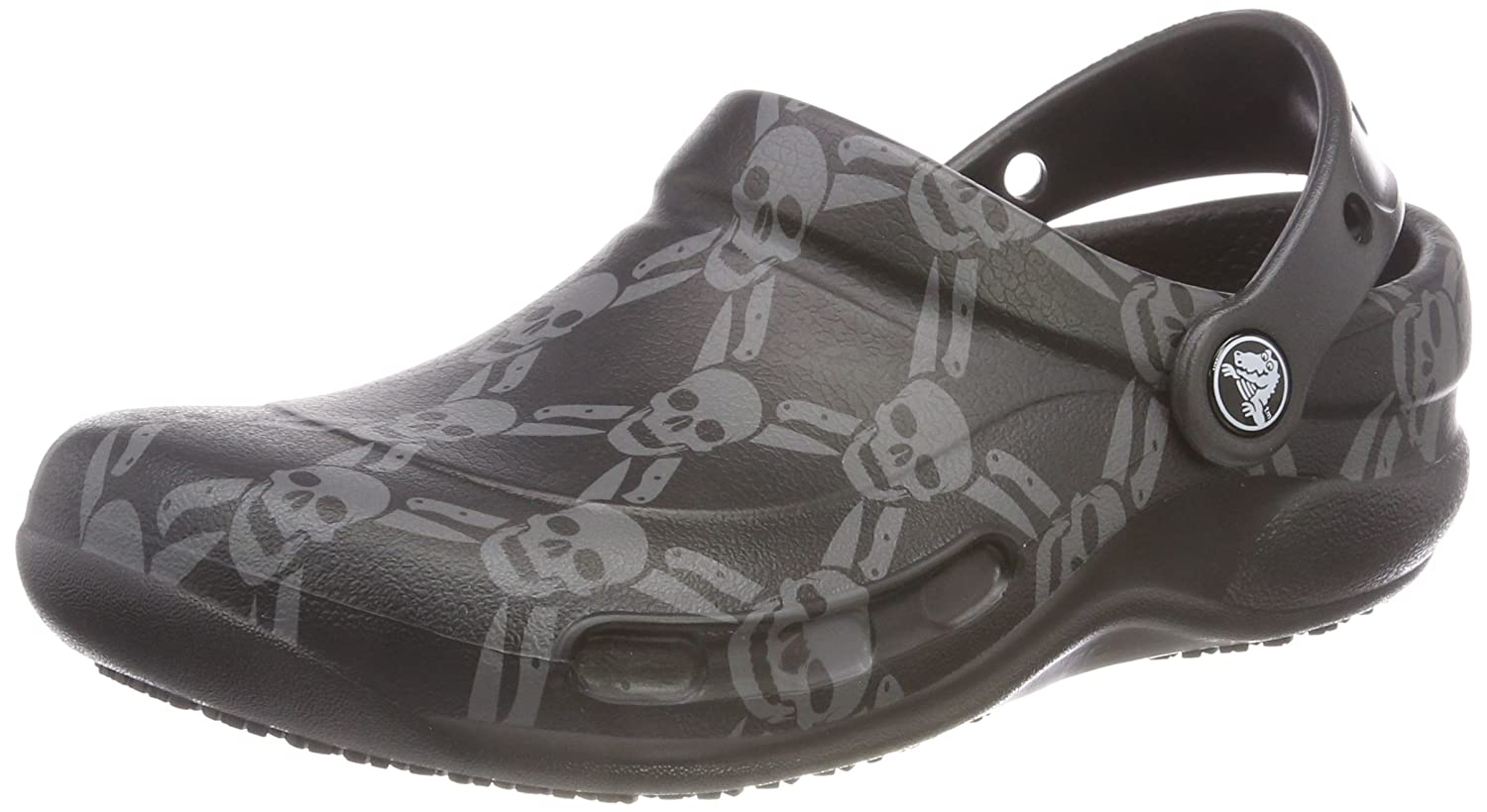 Crocs Bistro Graphic Clog, Zuecos Unisex Adulto 37/38 EU|Negro (Black/Smoke)