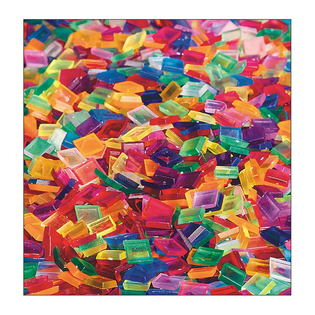 S&S Worldwide Clear Multicolored Square Plastic Tile (bag of 1900) by S&S Worldwide