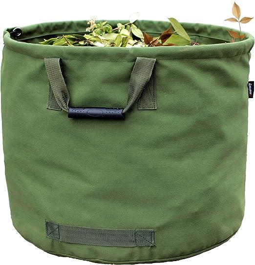 Bolsas reutilizables jardín bolsa de basura bolsa de residuos de jardinería césped hojas resistente Militar lienzo tela: Amazon.es: Jardín
