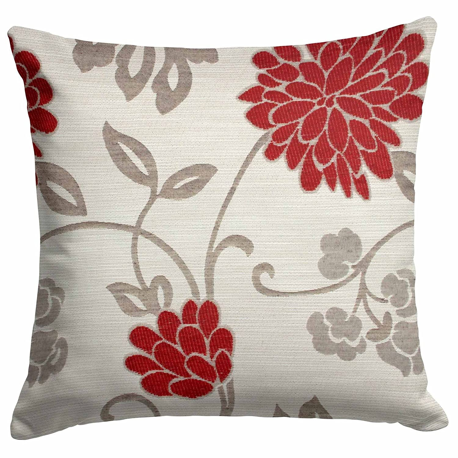 Chrystie Cushion Cover, Chenille Floral Cushion, Exclusive Ideal Textiles Design, Pillow Covers, 18
