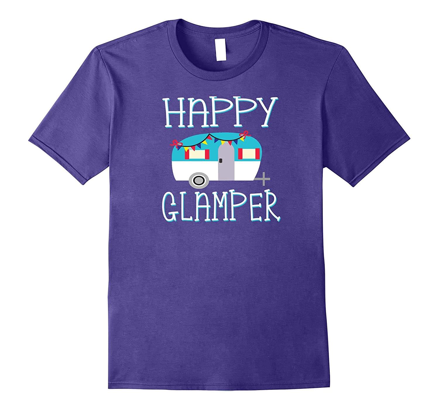 Cute Happy Glamper Retro RV shirt for camper-Art