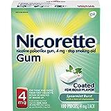 Nicorette 4mg Nicotine Gum to Quit Smoking - Spearmint Burst Flavored Stop Smoking Aid, 100 Count