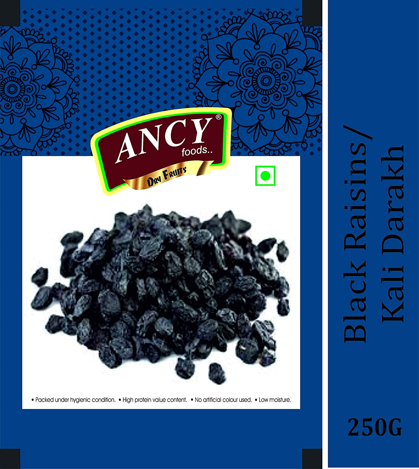Ancy Foods Premium Dry Fruits (Black Raisin/Kali Darakh 250g)