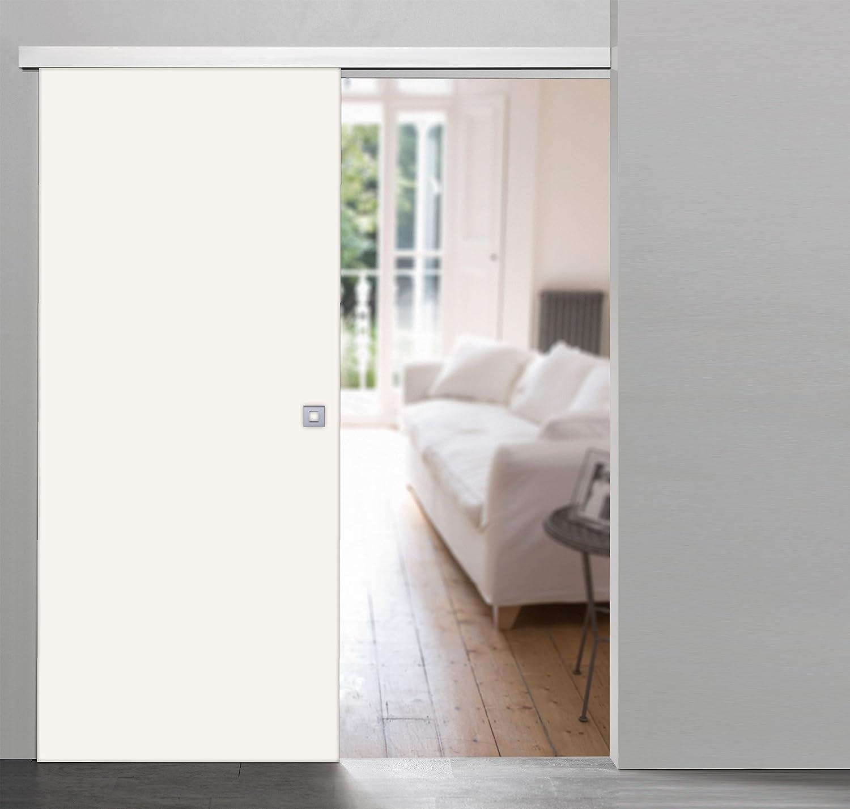 Rahmenlose Holzschiebetür in Weiß | Maße des Türblattes: 880 x 2035 ...