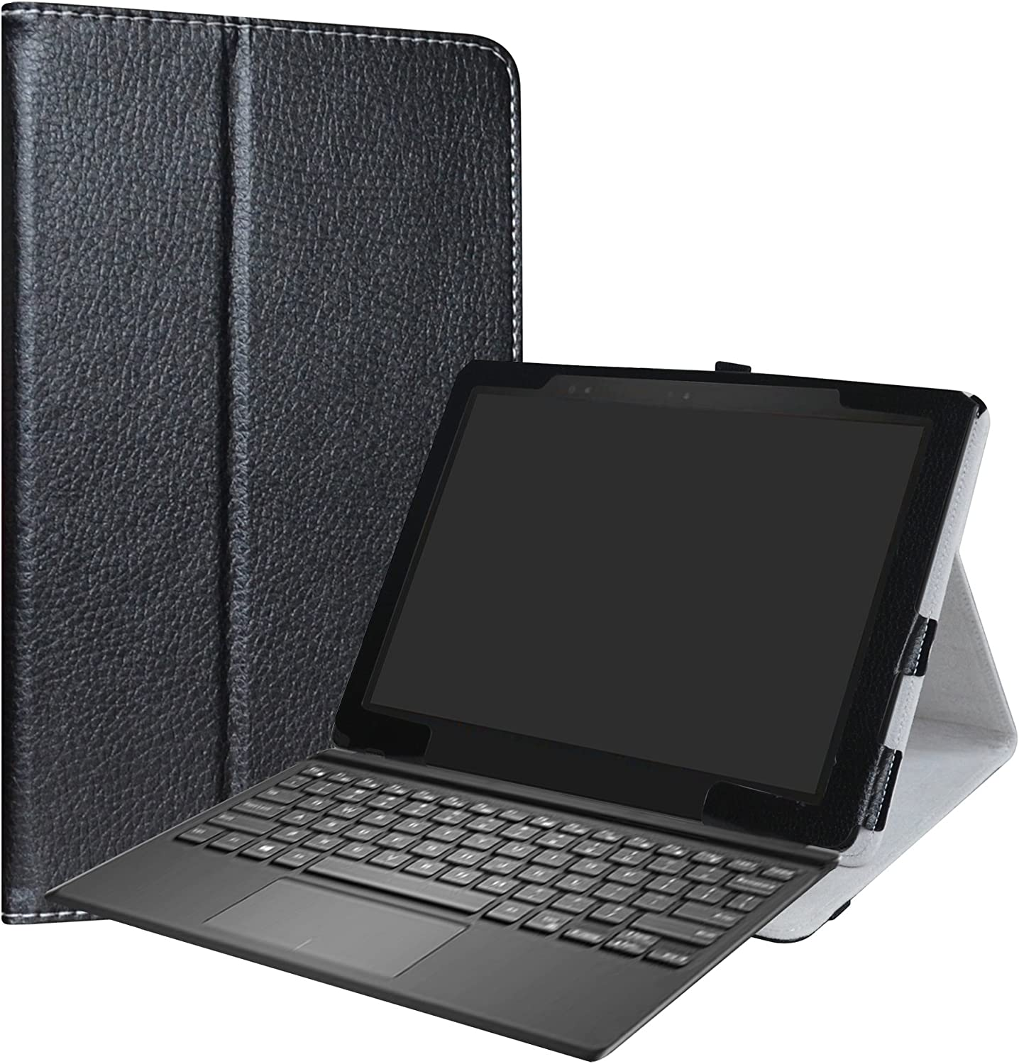 Dell Latitude 5285 Case,LiuShan PU Leather Folio Carring Cover for 12.3