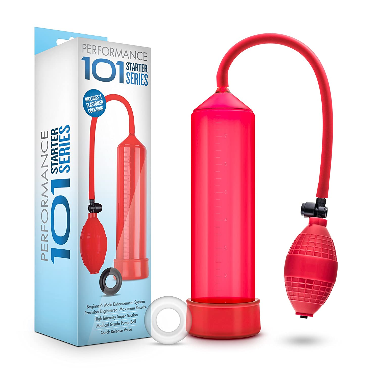 Amazon.com: Beginner Penis Pump - Male Enhancement Erection Vacuum Chamber - Sex Toy for Men (Red): Health & Personal Care