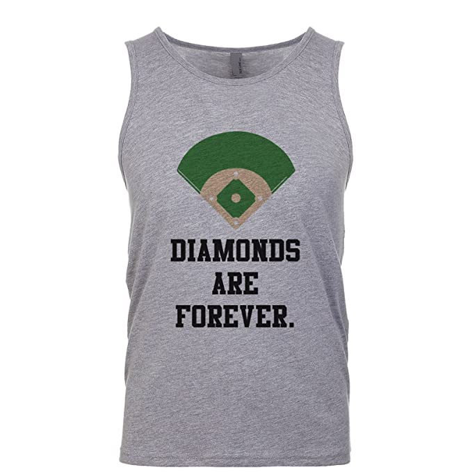 9516f5a7e016 Amazon.com: Shirtgoals Diamonds Are Forever. Men's Tank: Clothing