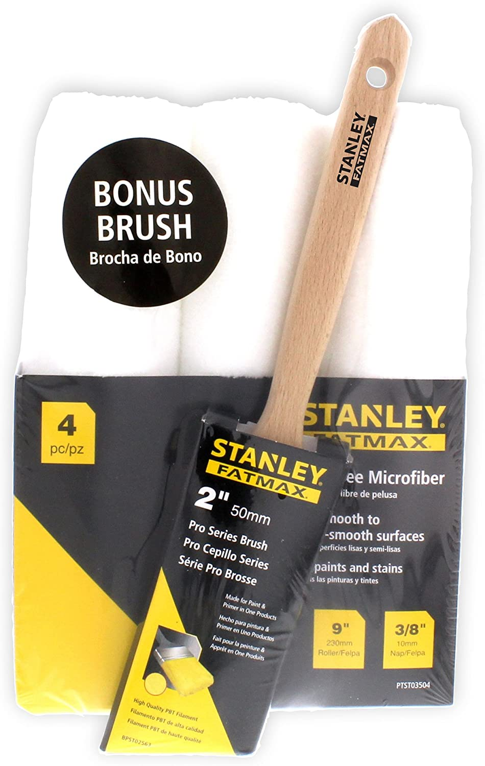 Stanley FatMax 4 Piece Roller Cover Brush Paint Kit