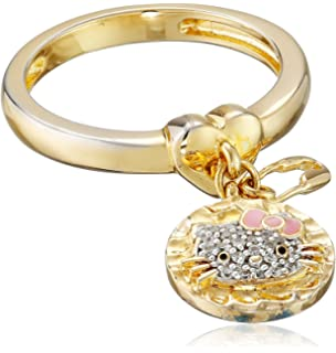 Amazoncom Hello Kitty Butterfly Kitty Gold Plated with