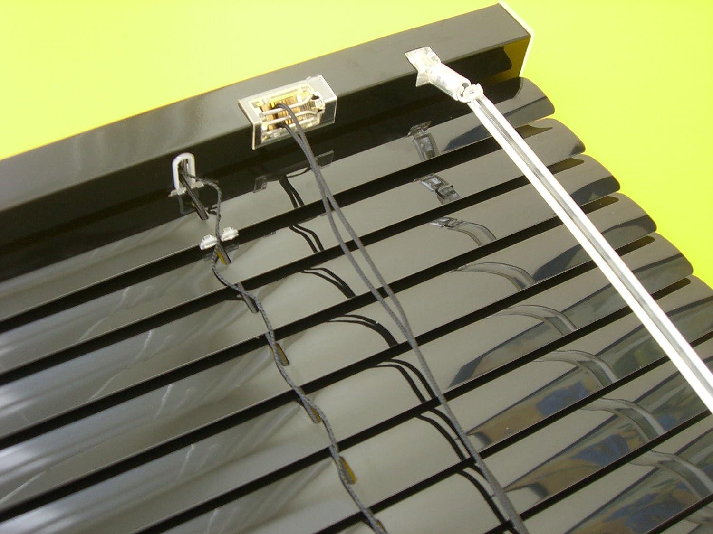 Rollos Schwarz amazon de alu jalousie aluminium lamellen fenster rollo schwarz 140