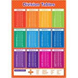 A3 Division Tables Educational Maths Poster