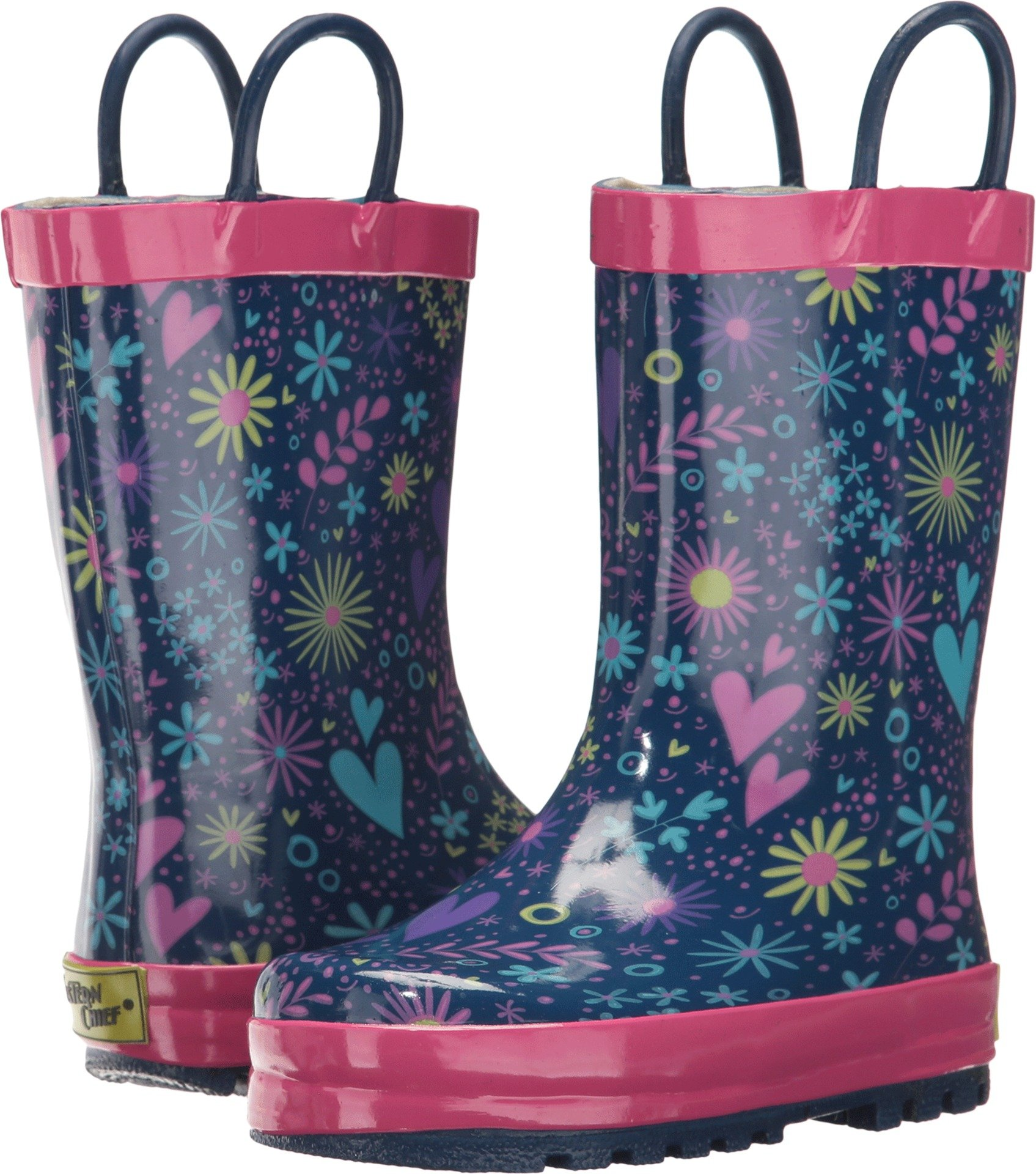 Western Chief Girls' Twinkle Stars Rain Boot-K, Purple, 13 M US Little Kid