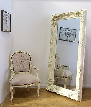Grande specchio da parete con cornice color crema, in stile ...