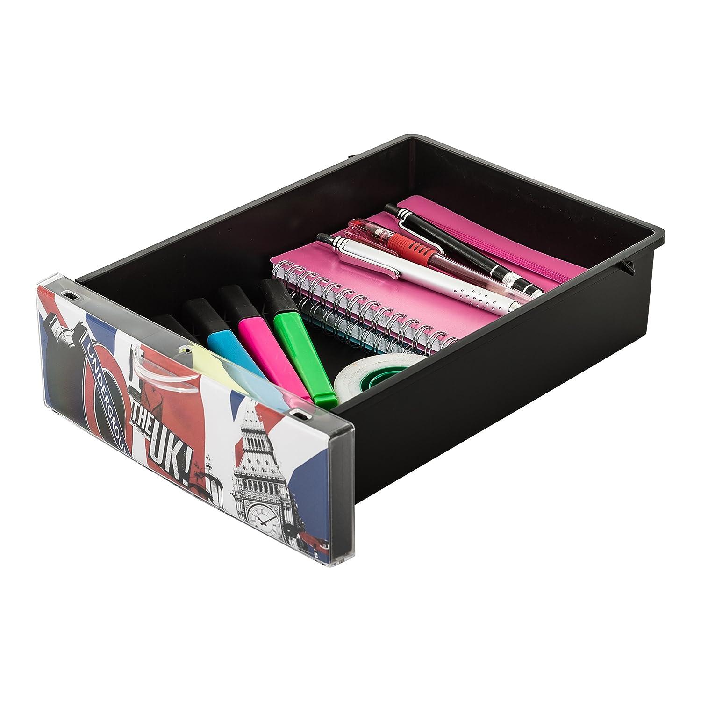 25,8 x 19,1 x 22 cm 3 Schubladen 2 L Plastik Design Schubladencontainer // Rollwagen Style Chest Flat A5 IRIS