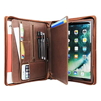 Resume Portfolio Folder Leather Notebook Padfolio With 3 Ring Binder For  IPad Pro 12.9 Inch  Resume Binder