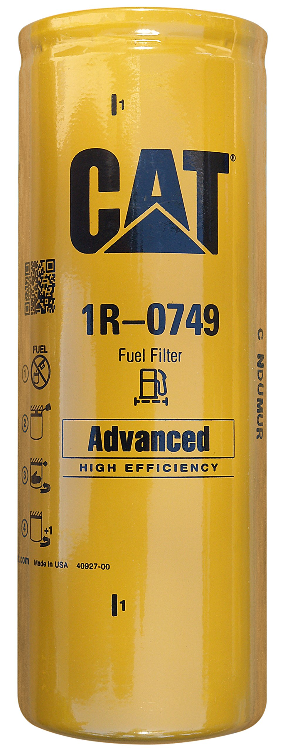 Caterpillar 1R-0749 Advanced High Efficiency Fuel Filter Multipack (Pack of 4)