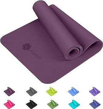 Eco Friendly Borsa da Yoga Antiscivolo Tappetino Sportivo e Fitness Yoga Mat Aisoco Stuoia di Yoga Premium TPE,Antiscivolo,Ecologico,Innocuo per la Pelle,Tappetino per Il Pilates